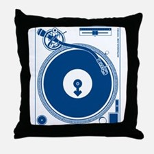 Male Turntable Throw Pillow