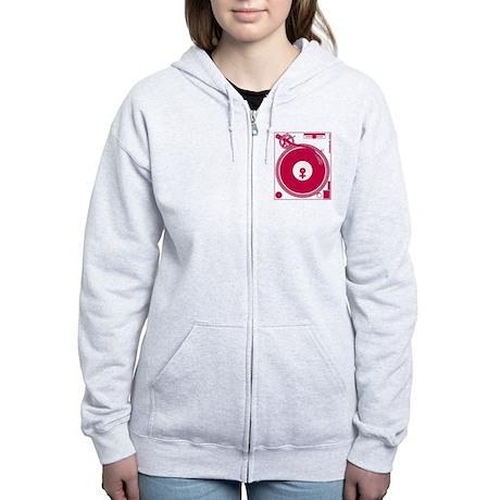 Female Turntable Women's Zip Hoodie