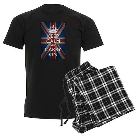 Keep Calm And Carry On Men's Dark Pajamas