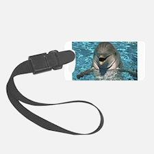 Dolphin Design Luggage Tag