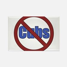 No Cubs Rectangle Magnet