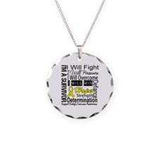 Ewing Sarcoma Persevere Necklace Circle Charm