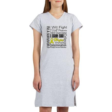 Ewing Sarcoma Persevere Women's Nightshirt