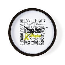 Ewing Sarcoma Persevere Wall Clock