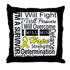 Ewing Sarcoma Persevere Throw Pillow