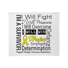 Ewing Sarcoma Persevere Throw Blanket