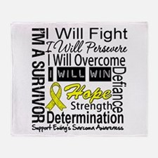 Ewing Sarcoma Persevere Throw Blanket