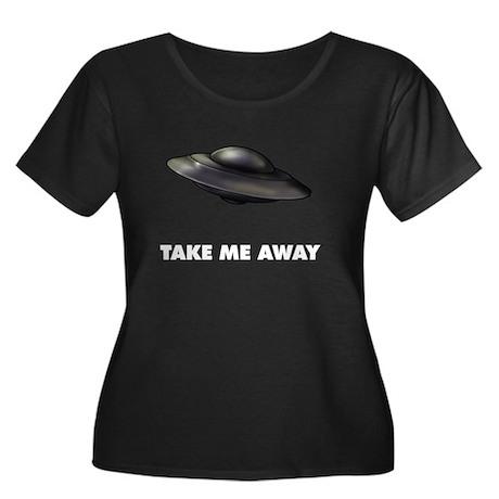 Flying Saucer Women's Plus Size Scoop Neck Dark T-