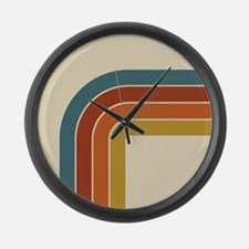 Retro Curve Large Wall Clock