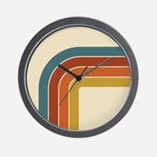 Retro Curve Wall Clock