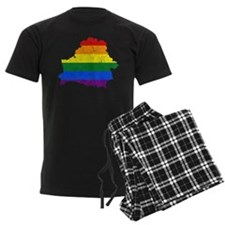 Belarus Rainbow Pride Flag And Map Pajamas
