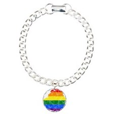 Belarus Rainbow Pride Flag And Map Bracelet
