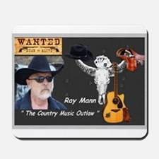 Country Music Outlaw Mousepad
