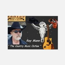 Country Music Outlaw Rectangle Magnet