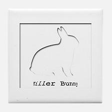 Killer Bunny Tile Coaster