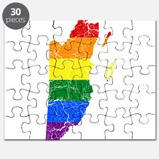 Belize Rainbow Pride Flag And Map Puzzle