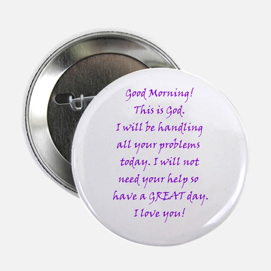 Good Morning from God Button