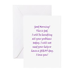 Good Morning from God Greeting Cards (Pk of 10