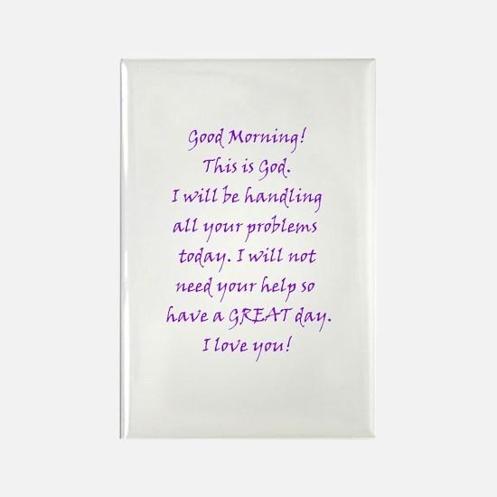 Good Morning from God Rectangle Magnet (100 pack)