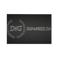 Doorman is God Logo Black Rectangle Magnet