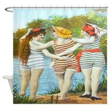 Victorian Bathing Beauties Shower Curtain