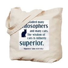 wisdom of cats philosophy Tote Bag