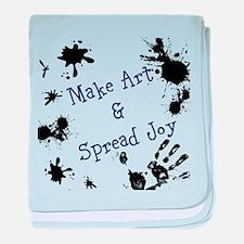 Make Art & Spread Joy baby blanket