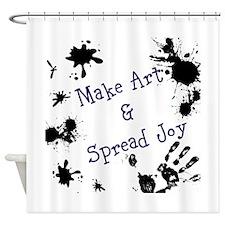 Make Art & Spread Joy Shower Curtain