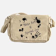 Make Art & Spread Joy Messenger Bag