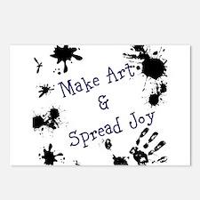 Make Art & Spread Joy Postcards (Package of 8)