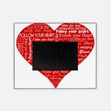 Follow Your Heart Red Typography Picture Frame