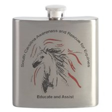 Educate and Assist Horse Rescue Flask