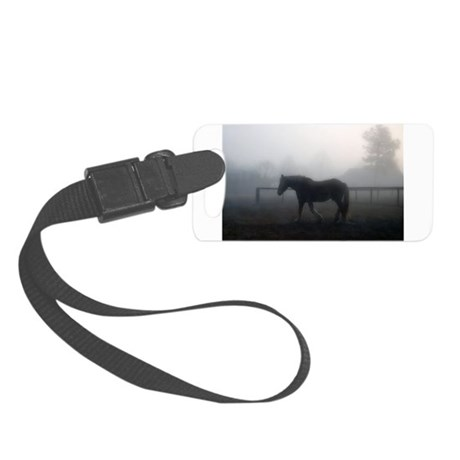 Draft Horse at Dusk Horse Rescue Small Luggage Tag