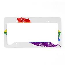 El Salvador Rainbow Pride Flag And Map License Pla