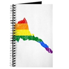 Eritrea Rainbow Pride Flag And Map Journal