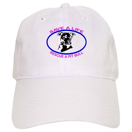 SAVE A LIFE RESCUE A PIT BULL Cap