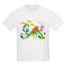 Humming Flowers by Nancy Vala T-Shirt