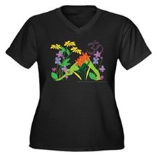 Humming Flowers by Nancy Vala Women's Plus Size V-