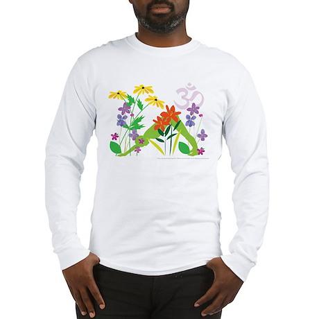 Humming Flowers by Nancy Vala Long Sleeve T-Shirt