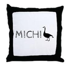 Michigander Throw Pillow