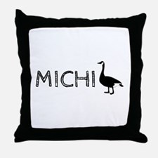 Michigander Throw Pillow