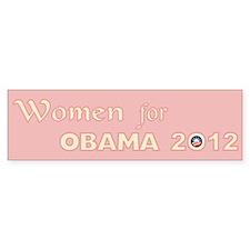 2012 Women For Obama Bumper Sticker