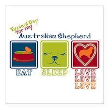 "Australian Shepherd Square Car Magnet 3"" x 3"""