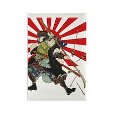 Flag Samurai Rectangle Magnet