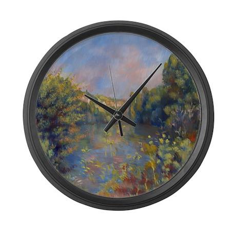 Renoir - Lakeside Landscape Large Wall Clock