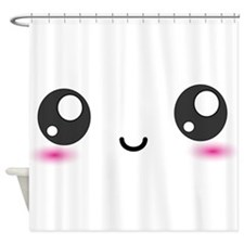 Japanese Anime Smiley Shower Curtain