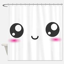 Japanese Anime Smiley Shower Curtain
