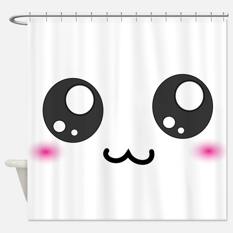 Japanese Emoticons Shower Curtains | Japanese Emoticons Fabric Shower ...