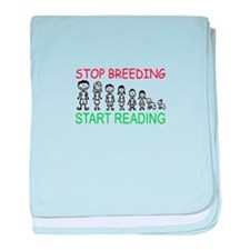 Stop Breeding baby blanket
