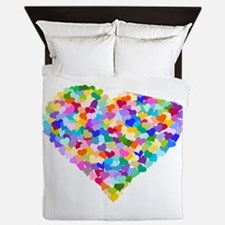 Rainbow Heart of Hearts Queen Duvet